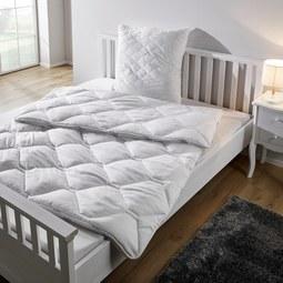 Vierjahreszeiten Betten Set Irisette 155x220/80x80 cm - Weiß, KONVENTIONELL, Textil - Irisette