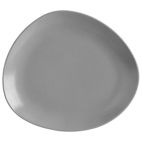 Speiseteller Nele Aus Steinzeug In Grau - siva, Moderno, keramika (26,3/23/2,5cm) - Premium Living