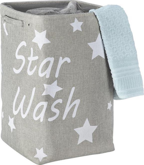 Wäschetonne Star in Grau - Grau, Textil (36/56/36cm) - Mömax modern living