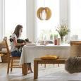 Hängeleuchte Greta, max. 60 Watt - Weiß, LIFESTYLE, Holz (46/120cm) - Modern Living