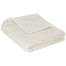 Handtuch Carina Weiß - Weiß, ROMANTIK / LANDHAUS, Textil (50/100cm) - Mömax modern living