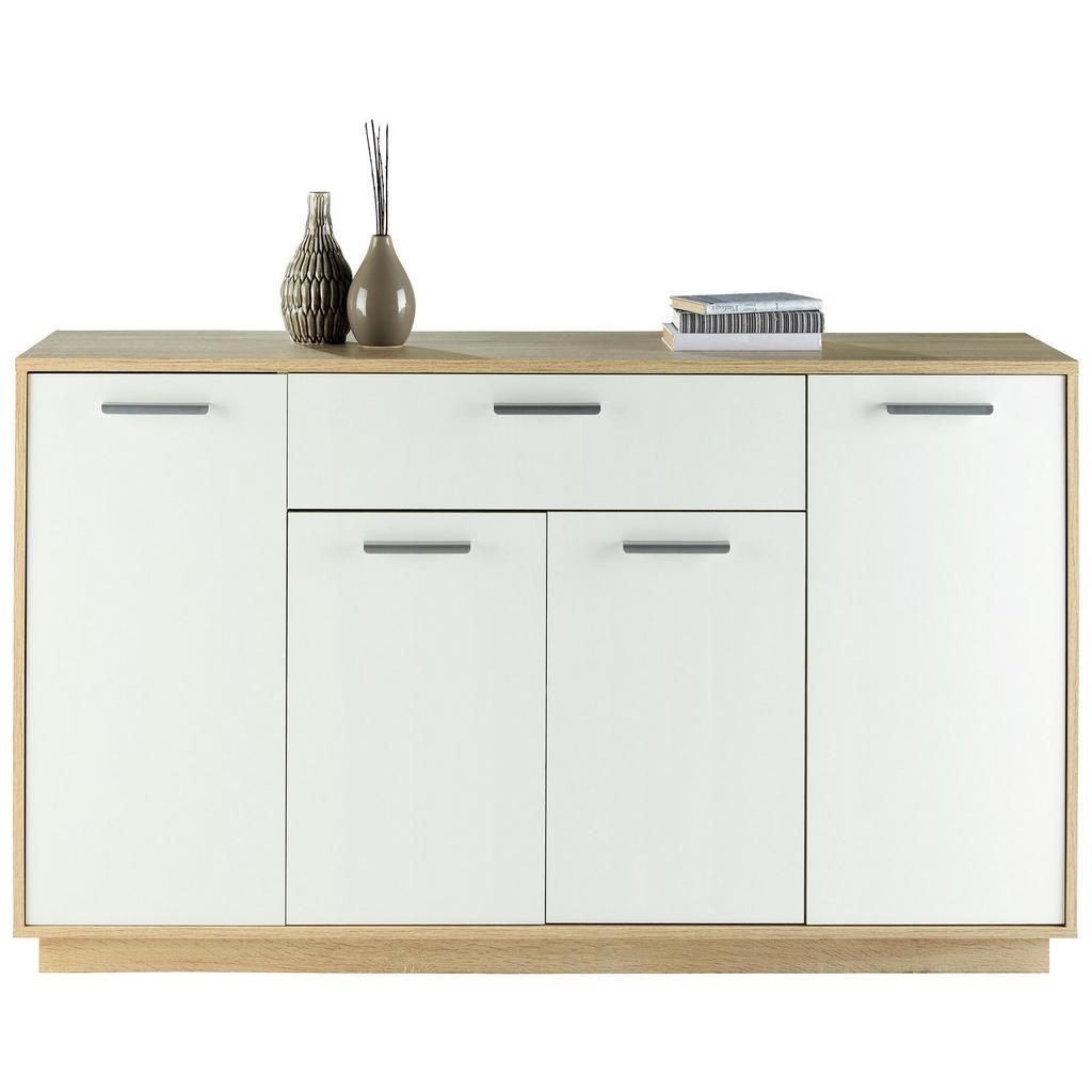 Sideboard Weiß/buchefarben