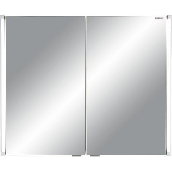 Spiegelschrank Anthrazit - Mooreichefarben/Alufarben, MODERN, Glas/Holzwerkstoff (81/67/16,5cm) - Premium Living