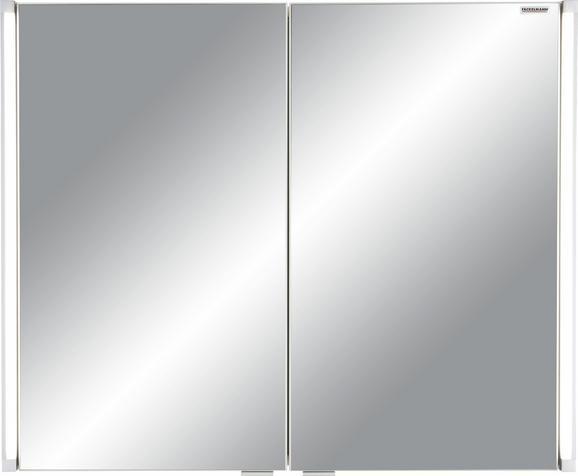 Spiegelschrank ca. 81x67x16,5cm - Mooreichefarben/Alufarben, MODERN, Glas/Holzwerkstoff (81/67/16,5cm) - PREMIUM LIVING
