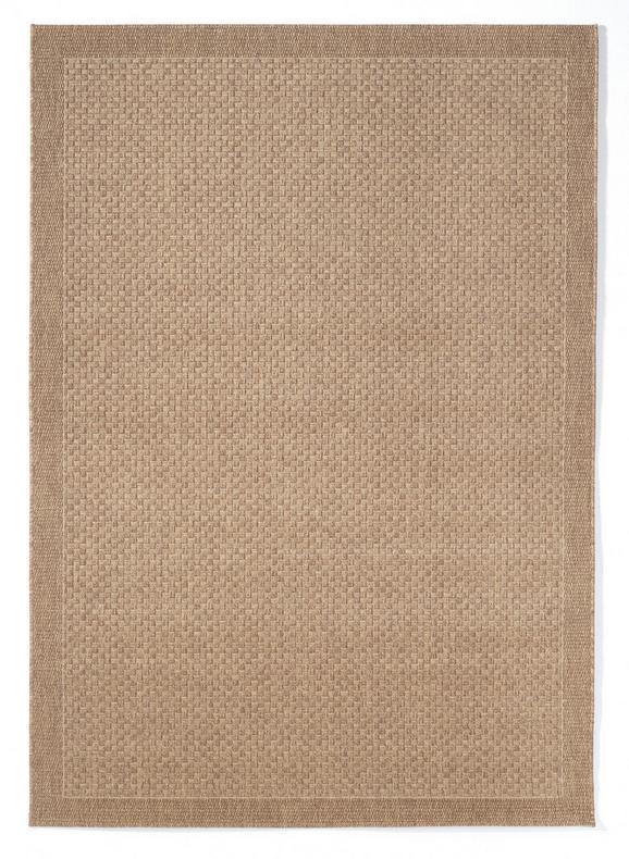 Flachwebeteppich Grace in Braun, ca. 140x200cm - Dunkelbraun, Design (140/200cm) - MÖMAX modern living