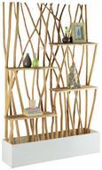 Raumteiler Naturfarben/Weiß - Naturfarben, MODERN, Holz (120/180/25cm) - Modern Living