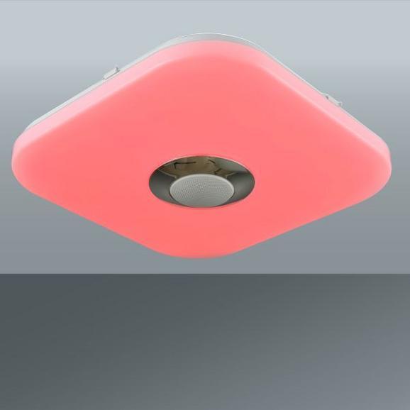 Stropna Led-svetilka Luan - bela, Konvencionalno, umetna masa (35/35/7,5cm) - Mömax modern living