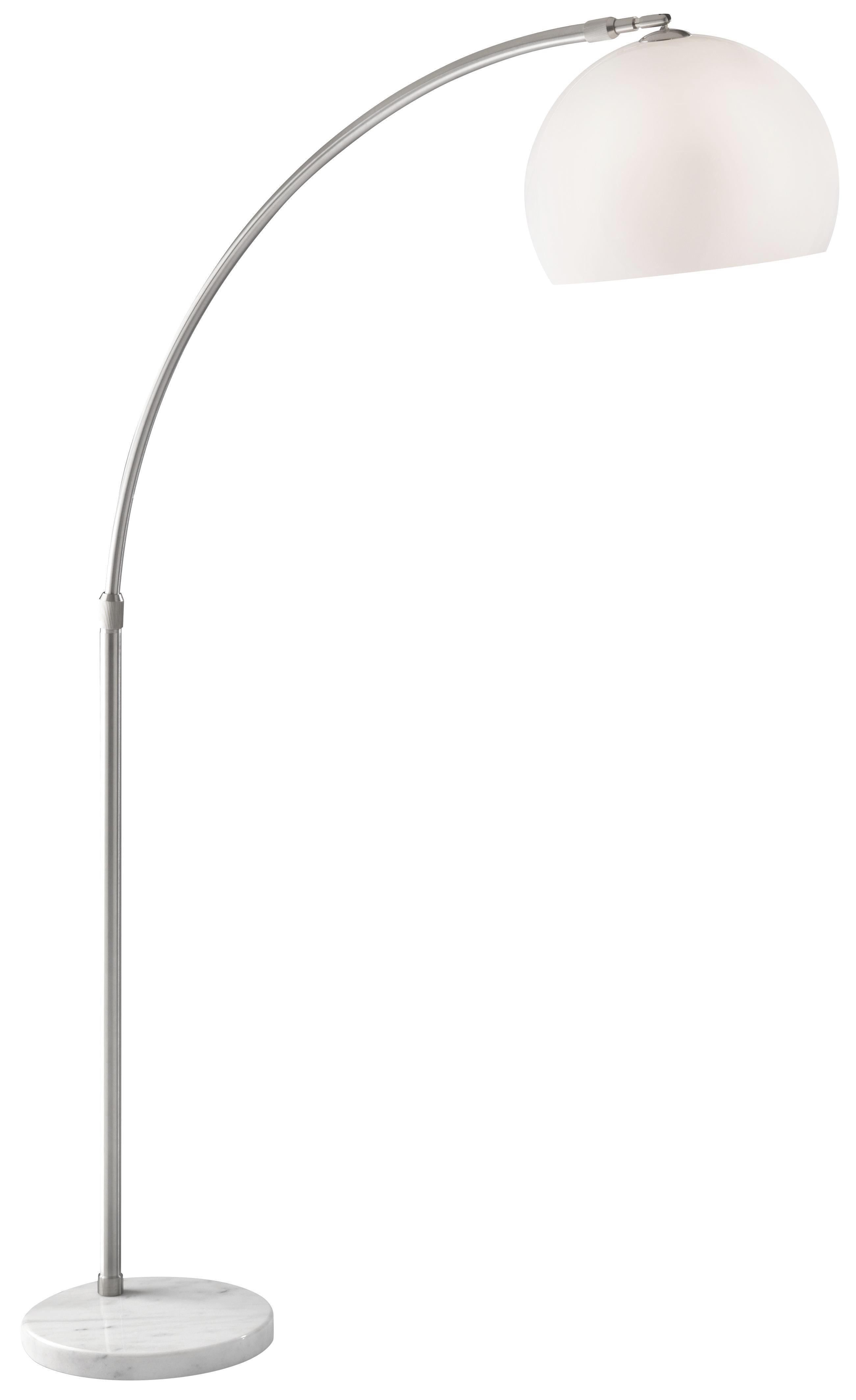 Stoječa Svetilka Scarlet - bela/srebrna, Moderno, kamen/kovina (180/200cm) - MÖMAX modern living