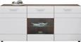Komoda Avensis - aluminij/črna, Moderno, umetna masa/leseni material (180/82,6/43,1cm) - Mömax modern living