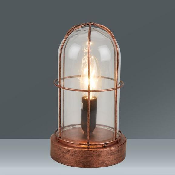 Asztali Lámpa Birte - réz színek, üveg/fém (12,5/22cm)