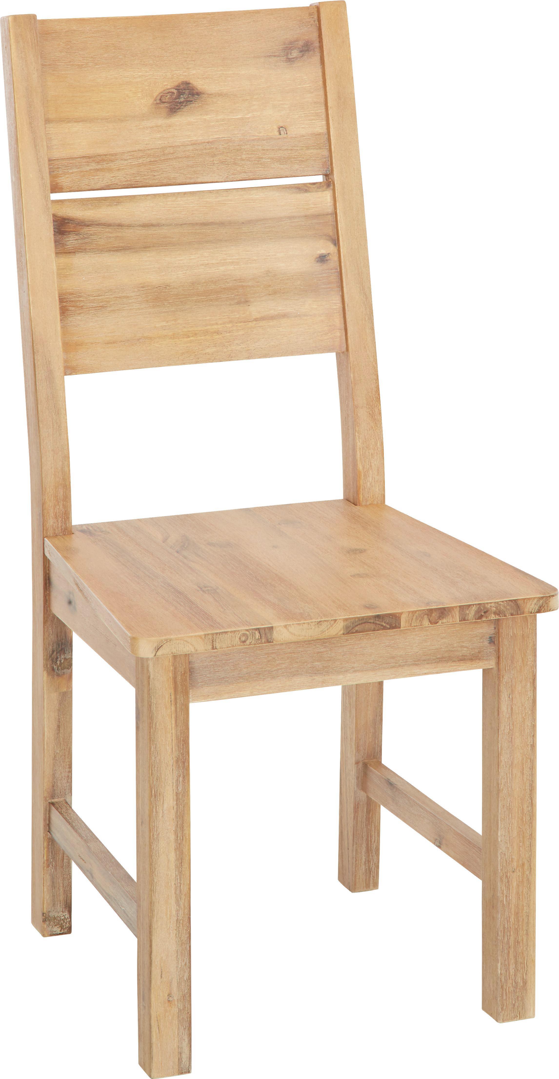 Stuhl in Akaziefarben - Akaziefarben, KONVENTIONELL, Holz (46/100/55cm) - ZANDIARA