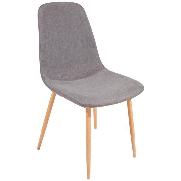 Scaun Svenja - culoare lemn stejar/gri, Modern, metal/textil (45,5/86,5/53cm)