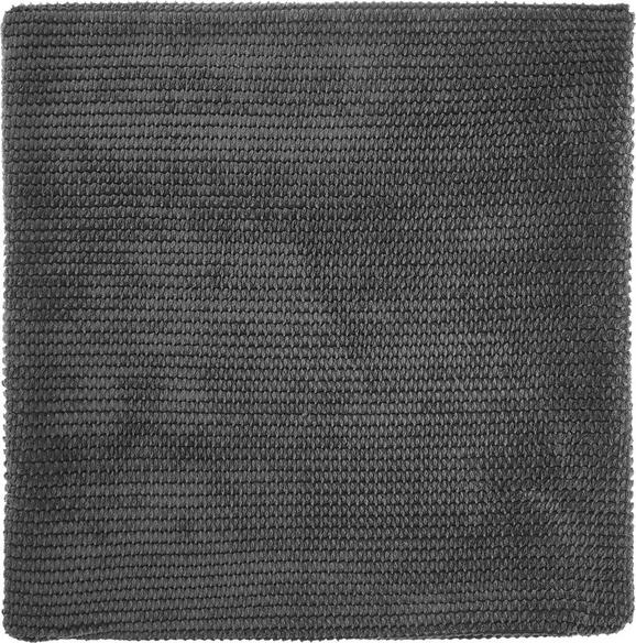 Kissenhülle Maxima, ca. 50x50cm - Dunkelgrau, KONVENTIONELL, Textil (50/50cm) - Mömax modern living