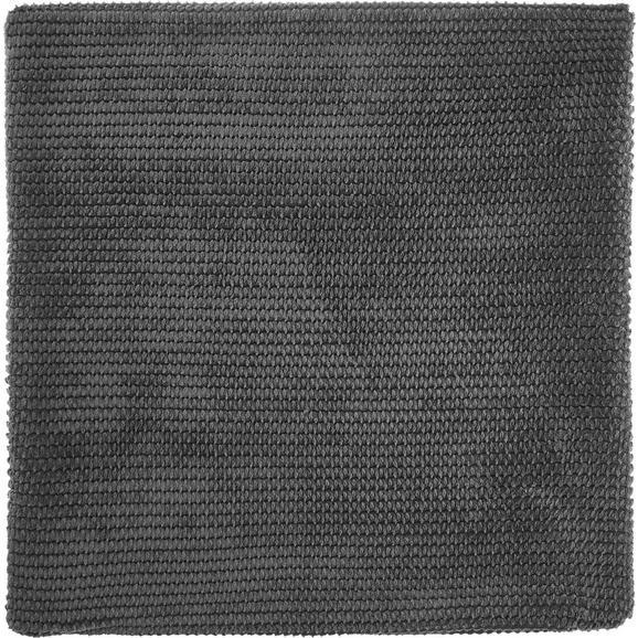 Kissenhülle Maxima ca. 50x50cm - Dunkelgrau, KONVENTIONELL, Textil (50/50cm) - Mömax modern living