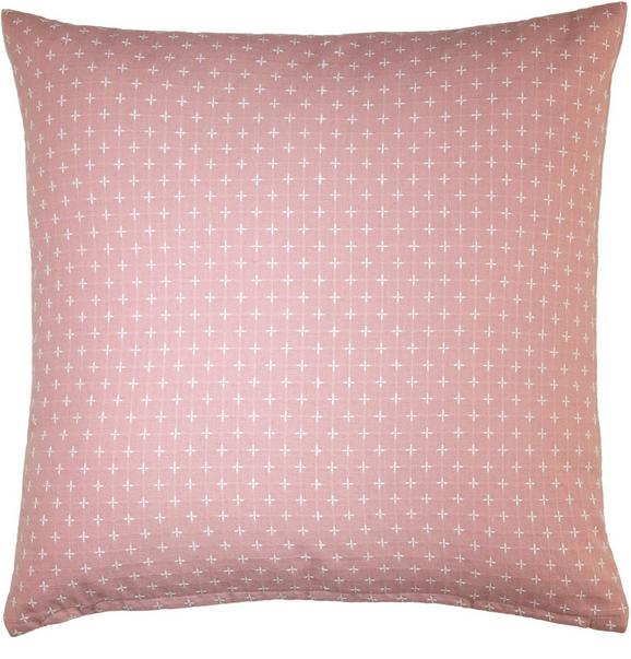 Zierkissen Resi in Rosa, ca. 40x40cm - Rosa, ROMANTIK / LANDHAUS, Textil (40/40cm) - MÖMAX modern living
