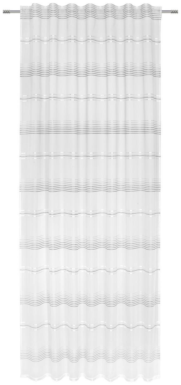 Fertigvorhang Louis Grau/Weiß 140x245cm - Weiß/Grau, KONVENTIONELL, Textil (140/245cm) - Mömax modern living