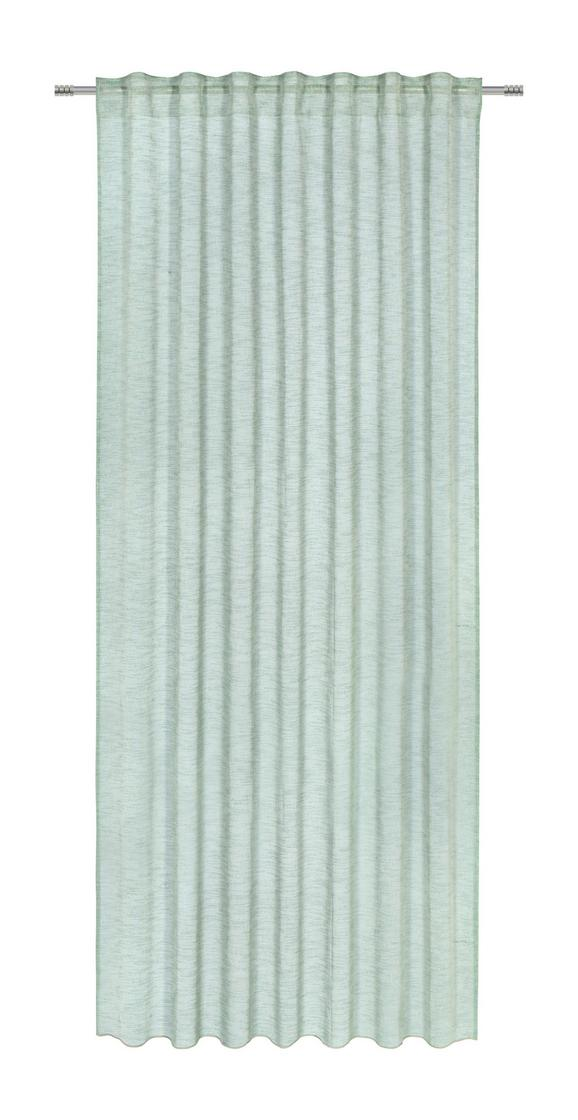 Končana Zavesa Sigrid -top- - zelena, Romantika, tekstil (140/245cm) - Premium Living
