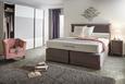 Fotelj Enya - roza/črna, Moderno, tekstil/les (77/70/68cm) - Modern Living
