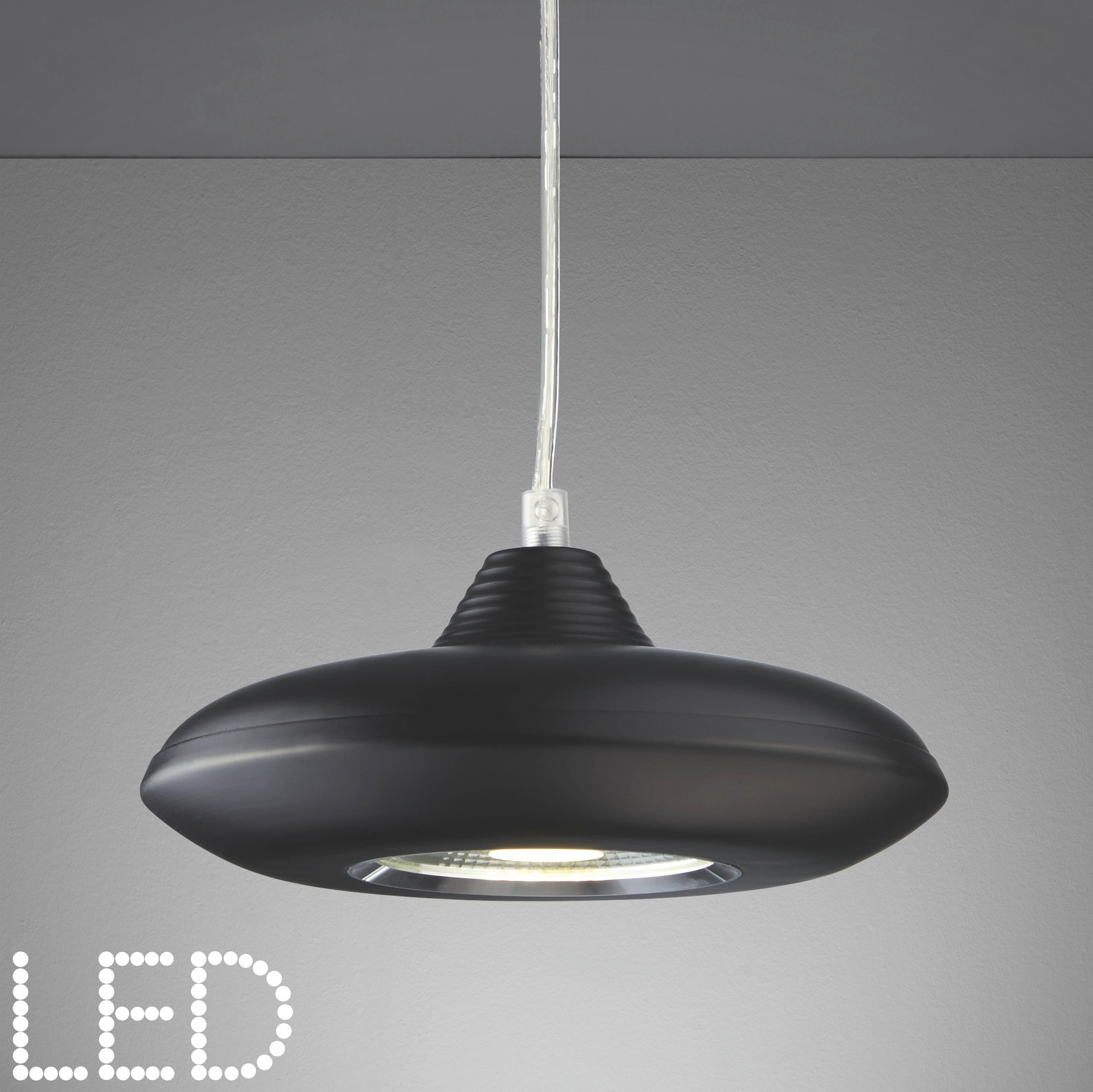 LED-Hängeleuchte Leah - Schwarz, MODERN, Glas/Kunststoff (21/21/180cm) - MÖMAX modern living