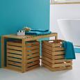 Box aus Bambus ca. 30x36x34,60 cm 'Mirella' - MODERN, Holz/Holzwerkstoff (30/36/34,60cm) - Bessagi Home