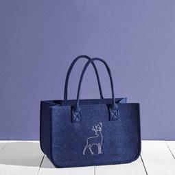 Tasche Luca ca.38x24cm - Blau, MODERN, Textil (38/20/24cm) - Mömax modern living