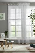 Končana Zavesa Louis - siva/bela, Konvencionalno, tekstil (140/245cm) - Mömax modern living