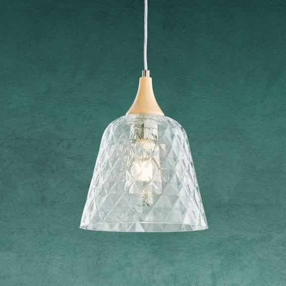 Hängeleuchte Liva - Transparent, MODERN, Glas/Metall (23/120cm) - Modern Living