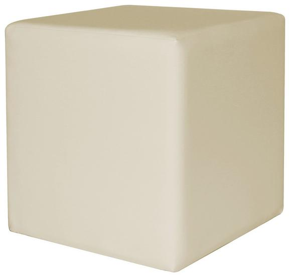 Tabure Colorfull Cube - bež/krem, Moderno, umetna masa/tekstil (40/40/42cm) - Mömax modern living