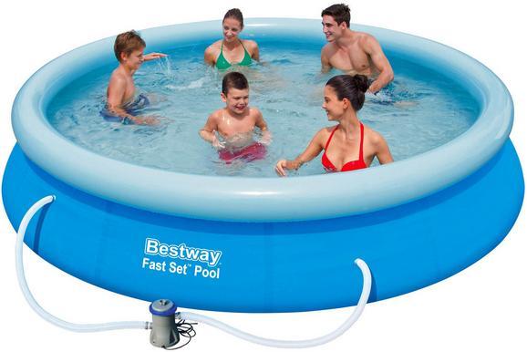 Schwimmbecken mitch - inkl. Filterpumpe - Blau/Hellblau, Kunststoff (366/76cm) - Mömax modern living