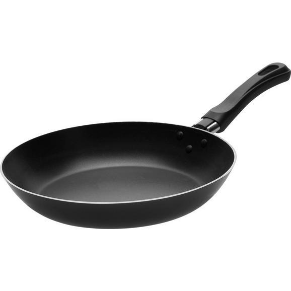 Tigaie Leijla - argintiu/negru, plastic/metal (23/4,2cm) - Based