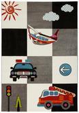 Kinderteppich Cars Bunt, ca. 120x170cm - Multicolor, Textil (120/170cm) - Mömax modern living