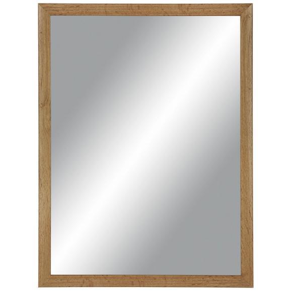 Stensko Ogledalo Wotan - rjava, Moderno, steklo/leseni material (60/80cm) - Mömax modern living