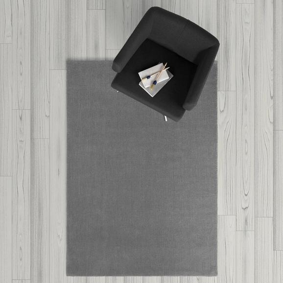 Handwebteppich in Grau ca.120x170cm 'Carolin' - Grau, MODERN, Textil (120/170cm) - Bessagi Home
