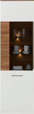Vitrine Weiß/Akazie - MODERN, Holz (60 202 40cm) - Premium Living