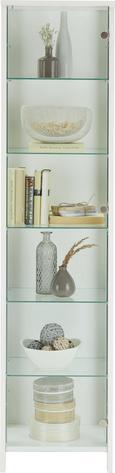 Vitrine Weiß - Alufarben/Weiß, MODERN, Glas/Holzwerkstoff (44/183/37cm) - Mömax modern living