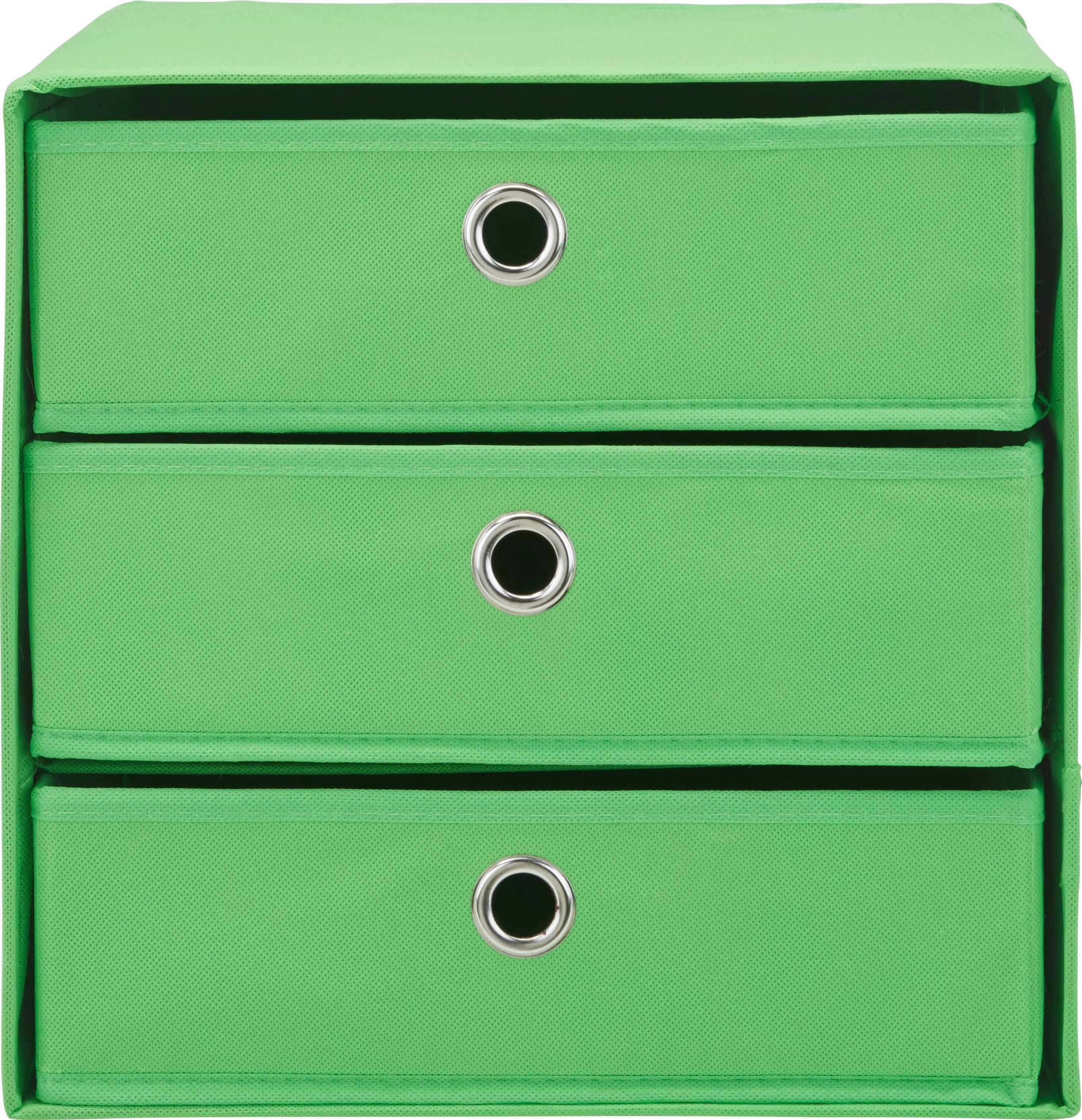 Schubladenbox Mona in Grün ca. 32x31,5cm - Grün, MODERN, Karton/Textil (32/31,5/32cm) - MÖMAX modern living