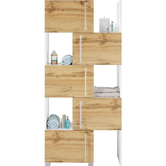 Regal Umbrien Ii - hrast/bela, Moderno, kovina/leseni material (47-78/164/35cm) - Mömax modern living