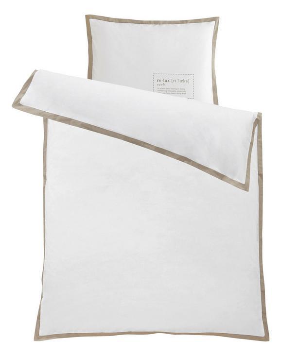 Bettwäsche Relax Verb, ca. 135x200cm - Weiß, MODERN, Textil (135/200cm) - Mömax modern living