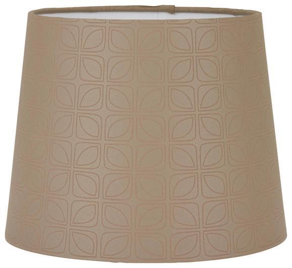 Leuchtenschirm Puse in Braun - Braun, ROMANTIK / LANDHAUS, Textil/Metall (16,5-20/15,6cm) - Mömax modern living