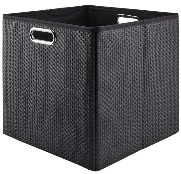 Aufbewahrungsbox Larry Schwarz - Schwarz, Kunststoff/Metall (33/32/33cm) - Mömax modern living