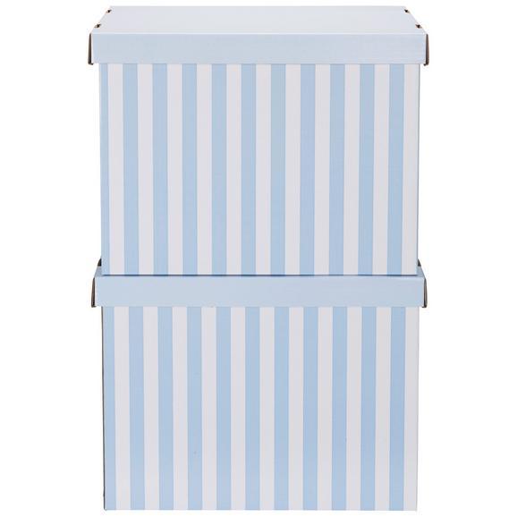 Cutie Cu Capac Jimmy - albastru/alb, carton (44,3/33,5/32,5cm) - Modern Living