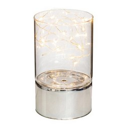 Lámpás Susanna - Átlátszó/Ezüst, Műanyag/Üveg (9/15cm)