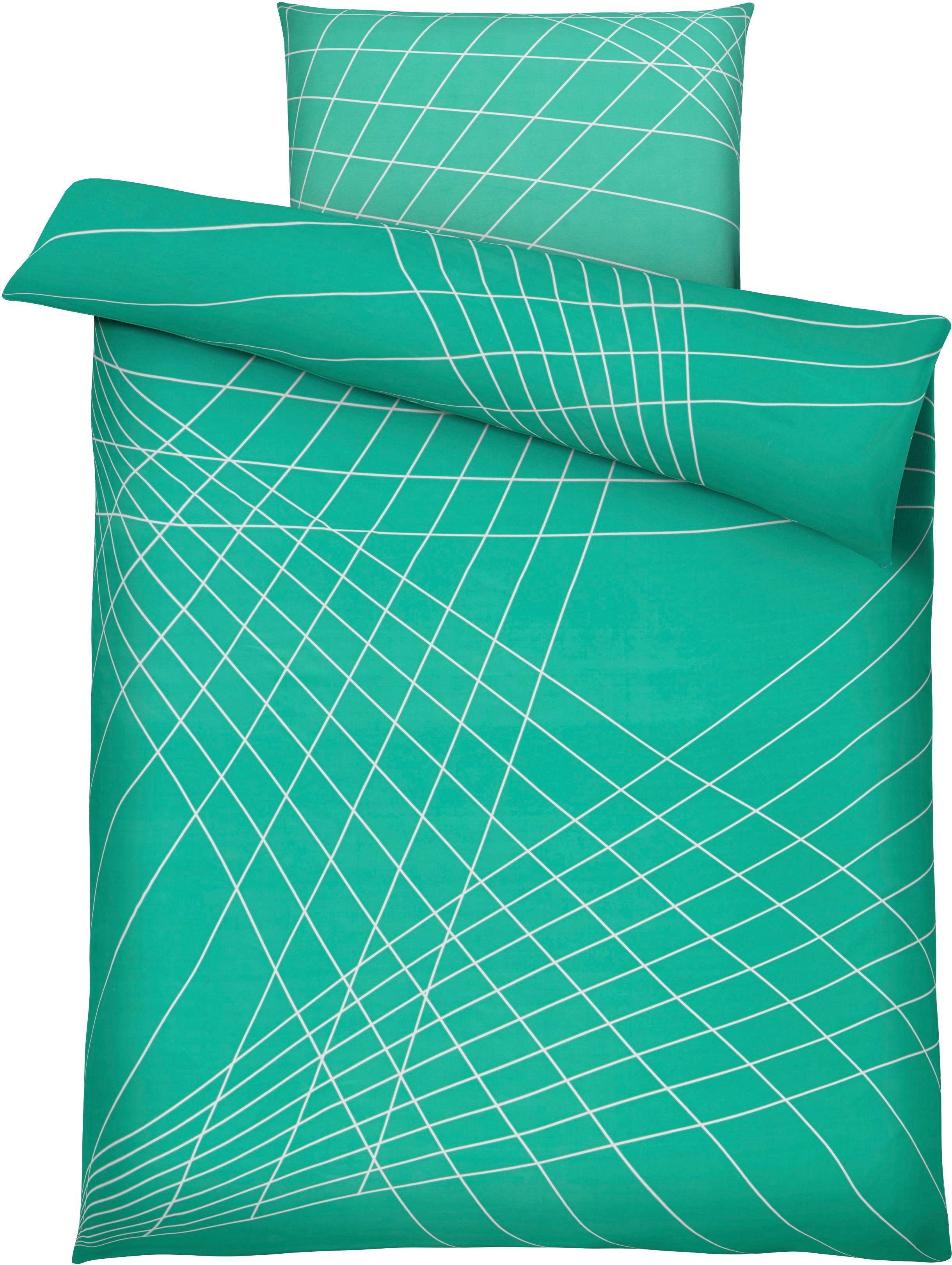 Bettwäsche Spiro in Türkis, ca. 135x200cm - Türkis, MODERN, Textil - MÖMAX modern living
