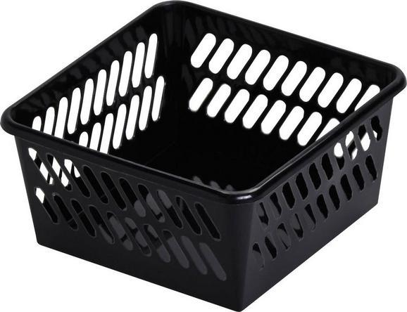 Košara Mimi - črna, umetna masa (9,5/4,9/9,5cm) - Mömax modern living