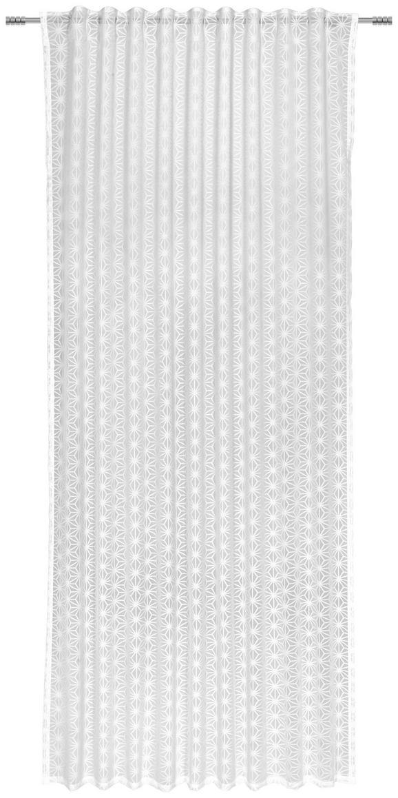Fertigvorhang Emma Weiß 140x245cm - Weiß, KONVENTIONELL, Textil (140/245cm) - Premium Living