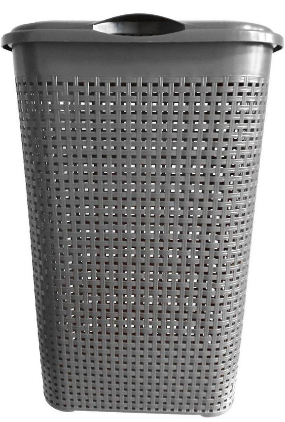Wäschetonne Rita Anthrazit - Grau, Kunststoff (40/30/52cm) - Mömax modern living