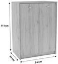 Komoda 4-you - bela/krom, umetna masa/leseni material (74/111,4/34,6cm) - Mömax modern living
