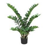 Kunstpflanze Zamifolia Grün - Schwarz/Grün, Kunststoff (90cm)