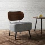 Sessel in Grau 'Jonas' - Grau, MODERN, Holzwerkstoff/Textil (58/72/64cm) - Bessagi Home