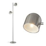 STEHLEUCHTE max. 5 Watt 'Fokus' - Nickelfarben, MODERN, Metall (32/23/140cm) - Bessagi Home